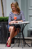 Penny Lancaster shows legs at London hotel 11.6.08